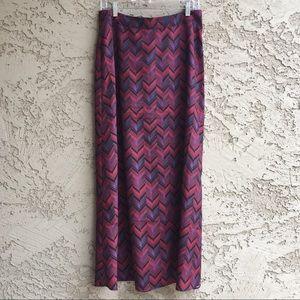FOREVER 21 Maxi Skirt Long Ankle Length Red Purple